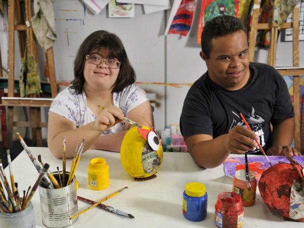 Jovens na Apae SP - Dia Intercional da Síndrome de Down (Foto: Divulgação/ApaeSP)