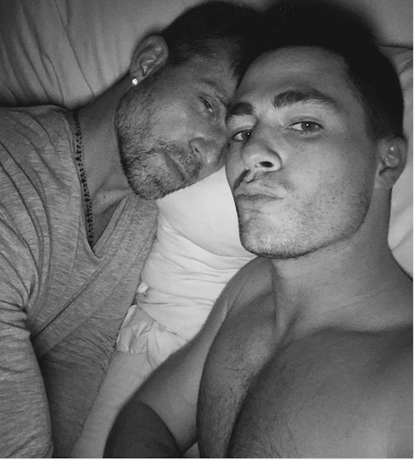 O ator Colton Haynes com o namorado, o florista Jeff Leatham (Foto: Instagram)