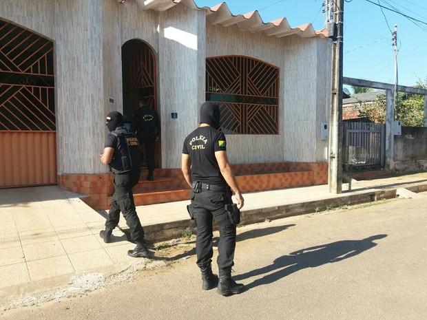 Polícia Civil deflagrou mais uma fase da Operação lares em Rio Branco (Foto: Lys Mendes/Arquivo Pessoal)