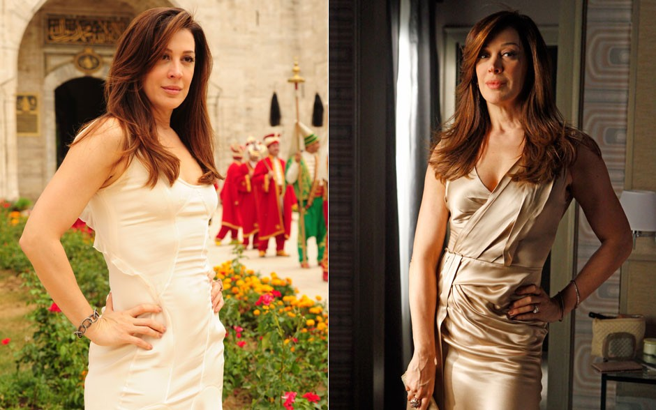 Lívia será uma vilã discreta e elegante. A personagem de Claudia Raia vai usar e abusar de tons nudes (Foto: Salve Jorge/TV Globo)