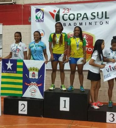 Monaliza Feitosa e Lorena Vieira Campeonato Brasileiro de badminton 2016 (Foto: Arquivo Pessoal)