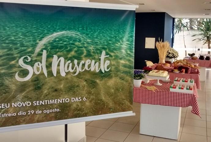 Café da manhã especial foi preparado para o lançamento da novela na TV TEM (Foto: Recursos Humanos / TV TEM)