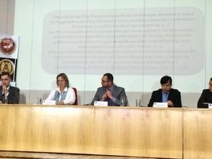 Coletiva de imprensa fala sobre operação que combate a fraude na saúde pública do Rio (Foto: Divulgação / Rede Globo)