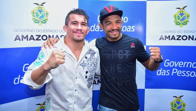 José Aldo e Ronys Torres (Foto: Joel Arthus/Secom)