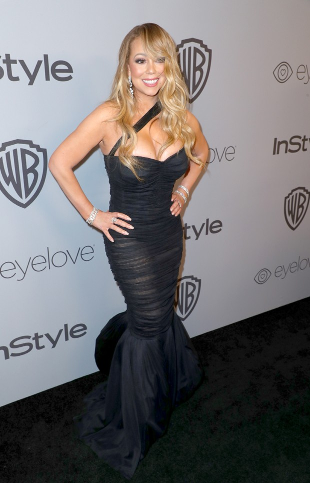 BEVERLY HILLS, CA - JANUARY 07:  Singer Mariah Carey attends the 2018 InStyle and Warner Bros. 75th Annual Golden Globe Awards Post-Party at The Beverly Hilton Hotel on January 7, 2018 in Beverly Hills, California.  (Photo by Joe Scarnici/Getty Images for (Foto: Getty Images for InStyle)