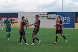 Ricardo Lopes agradece assistência de Renatinho Potiguar para gol do Globo FC