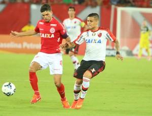 América-RN x Flamengo, na Arena das Dunas - Márcio Passos, volante do América-RN (Foto: Alexande Lago/GloboEsporte.com)