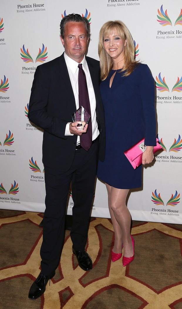 Matthew Perry e Lisa Kudrow em prêmio em Los Angeles, nos Estados Unidos (Foto: David Livingston/ Getty Images)