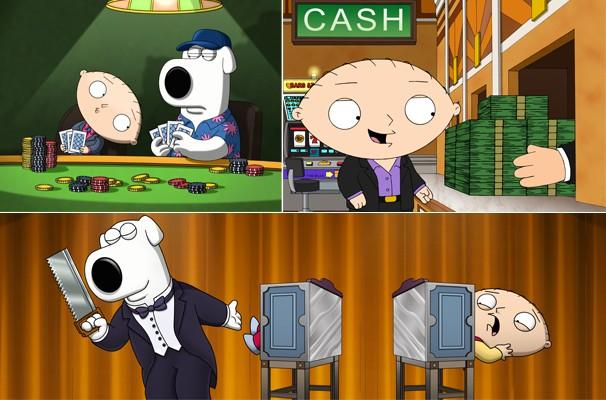 Cópias de Stewie e Brian aproveitam tudo o que Vegas tem de melhor (Foto: Divulgação/Reprodução)