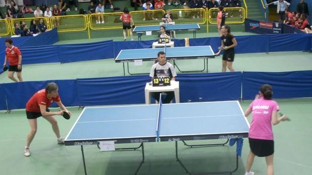 Tênis de mesa feminino de Bauru nos Jogos Abertos 2013 (Foto: Divulgação / Prefeitura de Bauru)