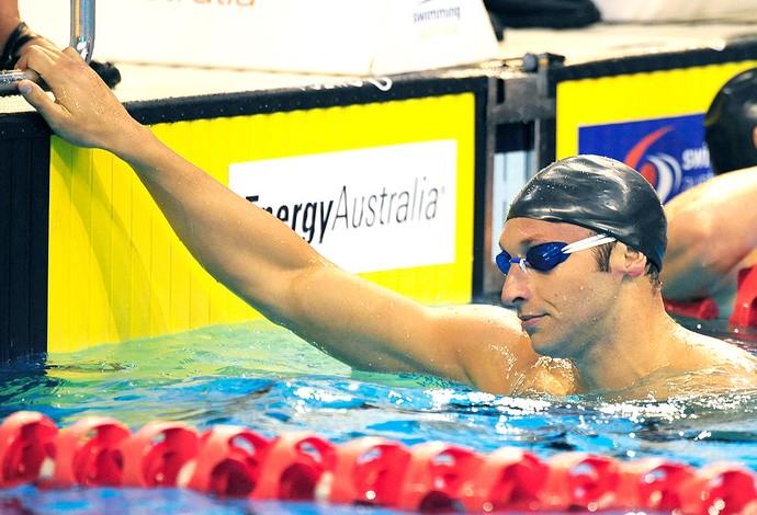 Ian Thorpe na seletiva de natação na Australia (Foto: AFP)