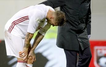 Exames confirmam lesão de Sergio Ramos, que para por mais de um mês