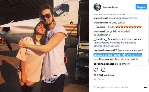 Fãs shippam Anitta e Luan Santana (Foto: Reprodução)