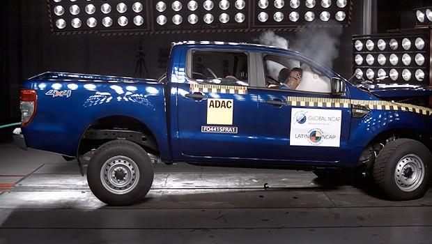 Ford Ranger recebe três estrelas em crash test do Latin NCAP (Foto: Latin NCAP)