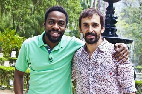 Lázaro Ramos e Júlio Andrade (Foto: Divulgação)