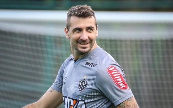 Lucas Pratto, ainda com a camisa do Atlético-MG (Foto: Bruno Cantini / Atlético-MG)