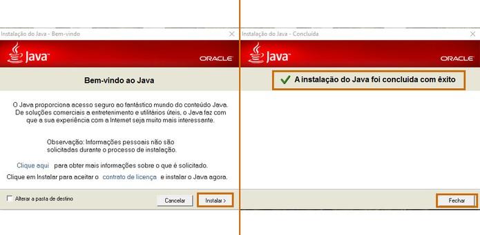 Faça a instalação da versão anterior do Java de forma tradicional (Foto: Reprodução/Barbara Mannara)