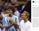 """Guga deixa rivalidade de lado e posta homenagem a Hewitt: """"Guerreiro"""""""