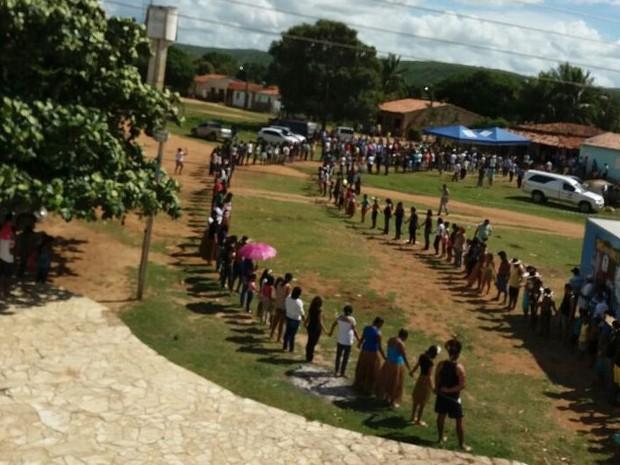 Pajé morreu quando estava deitado em uma rede na comunidade indígena (Foto: Marcos Paulo Carvalho Lima/Divulgação)