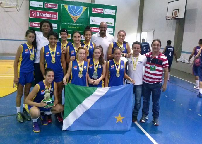 Seleção feminina sub-17 é campeã brasileira da segunda divisão (Foto: Divulgação/FBMS)