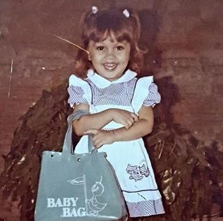 Aline Moreira quando era criança (Foto: Arquivo pessoal)