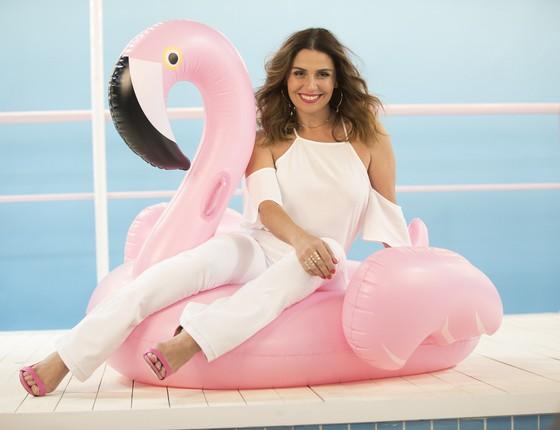 Giovanna tem vindo ao Brasil apenas para trabalhos esporádicos e acaba de ser clicada para o nova campanha da Zattini (Foto: Divulgação)
