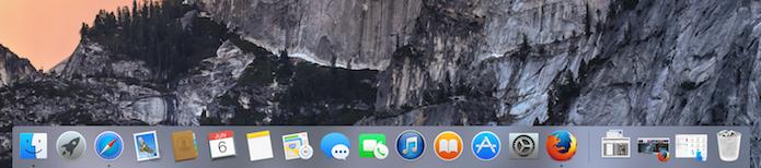 Dock do OS X agora é mais transparente e plana (Foto: Reprodução/Edivaldo Brito)