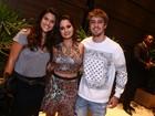 Giulia Costa vai com o namorado, Eike Duarte, a festa no Rio
