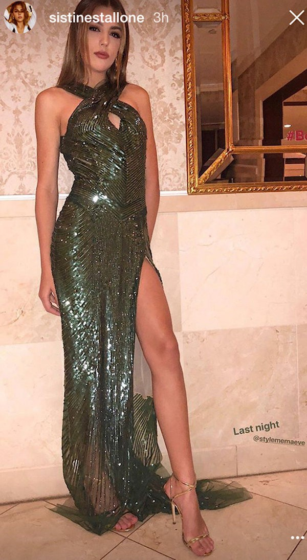 A modelo Sistine Stallone, filha do ator Sylvester Stallone (Foto: Instagram)