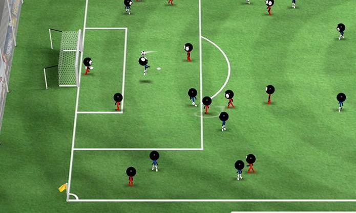 Stickman Soccer é um jogo de futebol sem muitas regras, mas focado na diversão (Foto: Divulgação / Djinnworks GmbH)