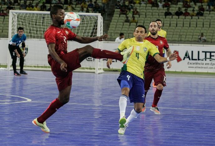 Brasil x Portugal futsal Arena Castelão amistoso (Foto: Kid Júnior/Agência Diário)