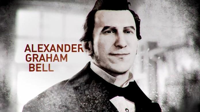 O inventor escocês Alexander Graham Bell oferecerá novos equipamentos ao jogador (Reprodução/YouTube)