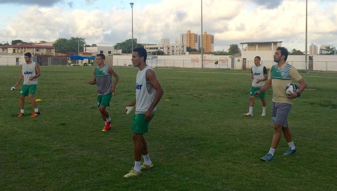 Alecrim - treino jogadores Athirson Mazzoli (Foto: Luiz Henrique/GloboEsporte.com)