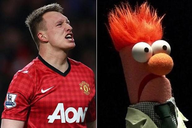 Phil Jones Manchester United Muppets (Foto: Montagem sobre fotos da Agência Getty Images e reprodução )