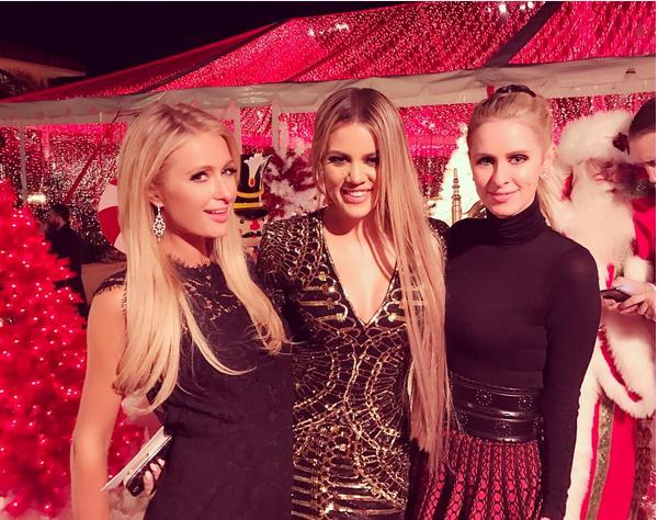Paris Hilton, sua irmã e Khloé Kardashian (Foto: Instagram)