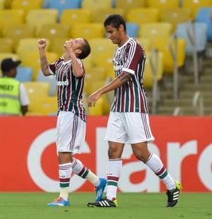 Marcos junior gol, Fluminense x Friburguense (Foto: Celso Pupo/Agência Estado)