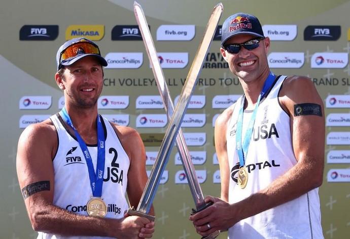 Dalhausser e Rosenthal campeões do grand slam da noruega de volei de praia (Foto: FIVB)