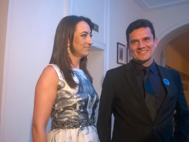 Juiz Sergio Moro e sua mulher (Foto: Lilian Quaino/G1)