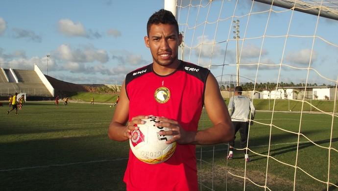 Rafael, goleiro do Globo FC, quer manter invencibilidade do clube (Foto: Klênyo Galvão)