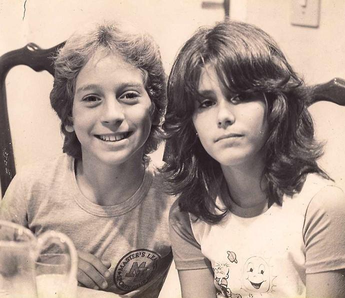Juliana Martins e Oberdan Jr. nos bastidores de 'A Gata Comeu' (Foto: Arquivo pessoal)