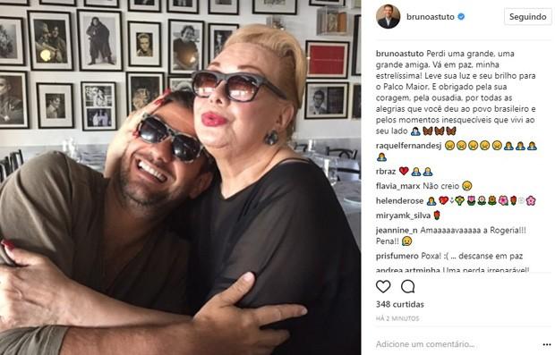 Bruno Astuto lamenta morte de Rogéria (Foto: Reprodução/Instagram)