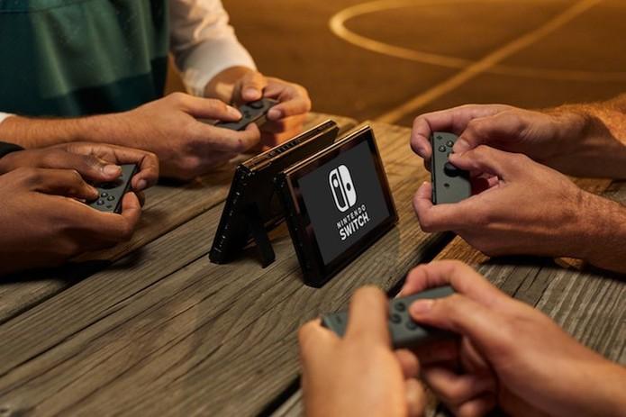 Multiplayer com quatro jogadores no Switch (Foto: Divulgação/Nintendo)