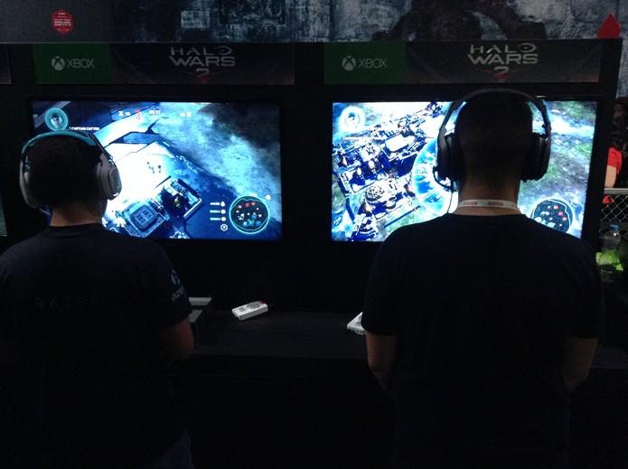 Halo Wars 2 na BGS (Foto: Reprodução/Felipe Vinha)