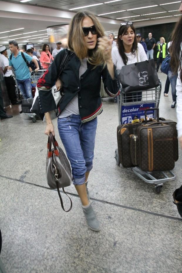 Sarah Jessica Parker em SP (Foto: Thiago Duran/AgNews)