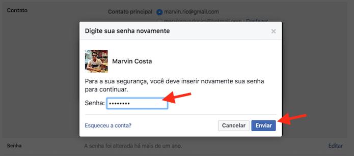 Validando o novo e-mail adicionando em uma conta do Facebook (Foto: Reprodução/Marvin Costa) (Foto: Validando o novo e-mail adicionando em uma conta do Facebook (Foto: Reprodução/Marvin Costa))