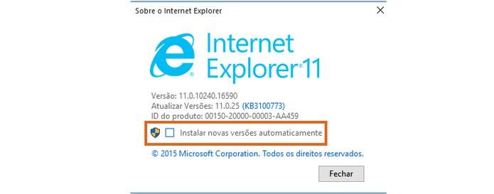 Ative a atualização automática no Internet Explorer (Foto: Reprodução/Barbara Mannara)