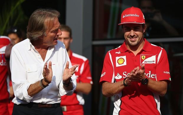 O presidente da Ferrari, Luca di Montezemolo, acredita que Fernando Alonso ainda é o piloto com mais condições de vencer o campeonato deste ano na Fórmula 1 (Foto: Getty Images)