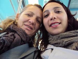 A mãe Elizabeth Kruger com a filha Cristhielem Kruger (Foto: Arquivo pessoal)