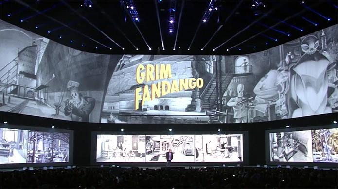 Remake de Grim Fandango é anunciado durante a conferência da Sony na E3 2014 (Foto: Reprodução: YouTube)