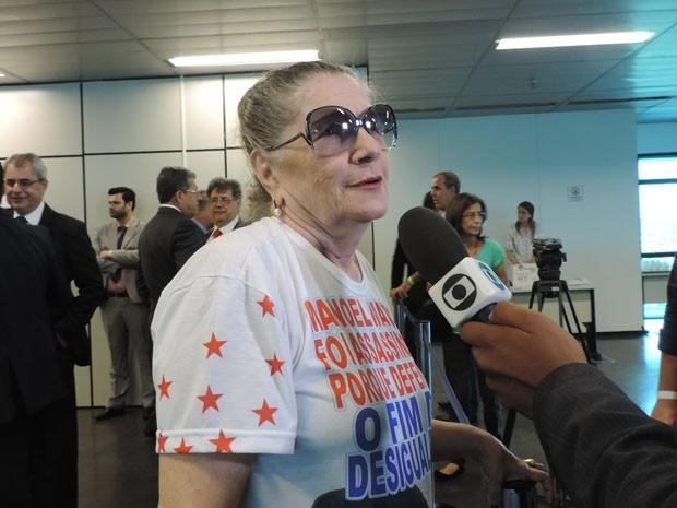 Nair Ávila acredita que justiça vai ser feita (Foto: Katherine Coutinho / G1)